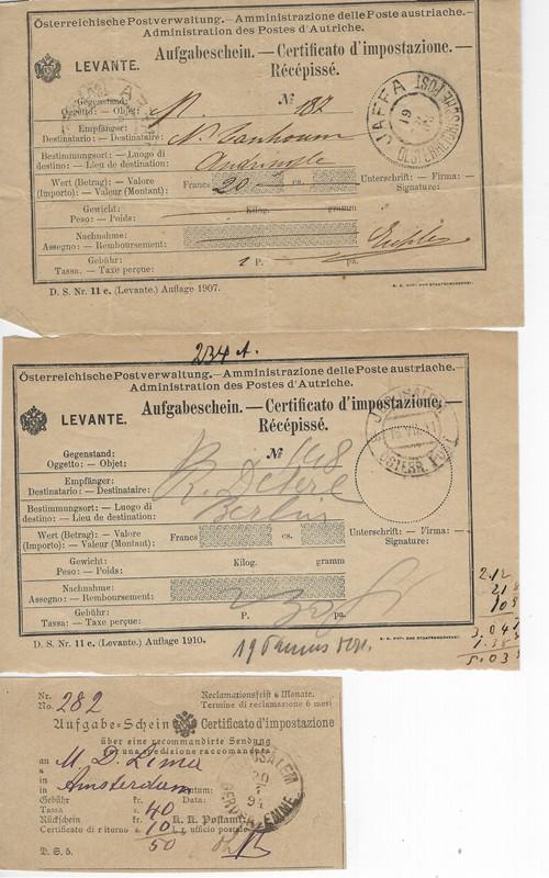 Lot 78 - ottoman period austrian offices -  Negev Holyland 92nd Holyland Postal Bid Sale