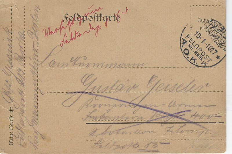Lot 100 - world war one WAR RELATED -  Negev Holyland 92nd Holyland Postal Bid Sale