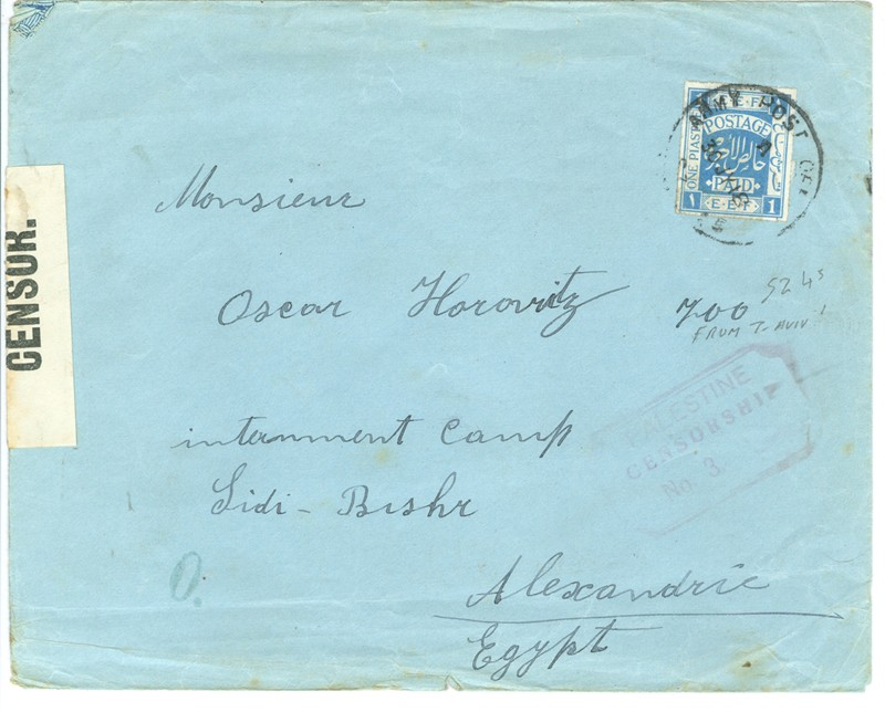 Lot 114 - british mandate early covers (blues), mixed franking; APO, FPO -  Negev Holyland 92nd Holyland Postal Bid Sale