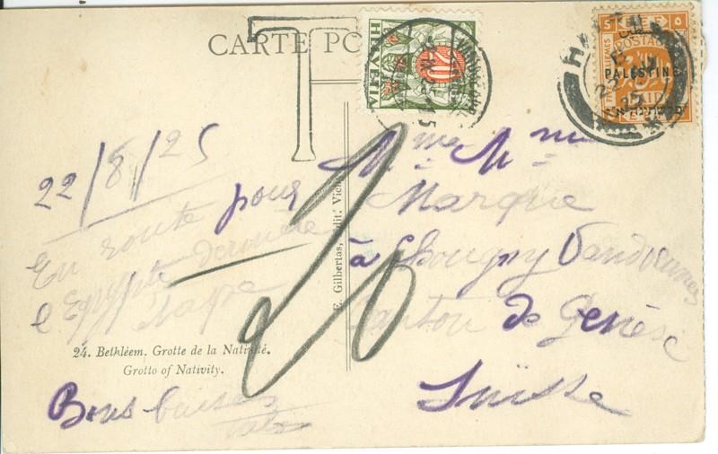 Lot 127 - british mandate large cities -  Negev Holyland 92nd Holyland Postal Bid Sale