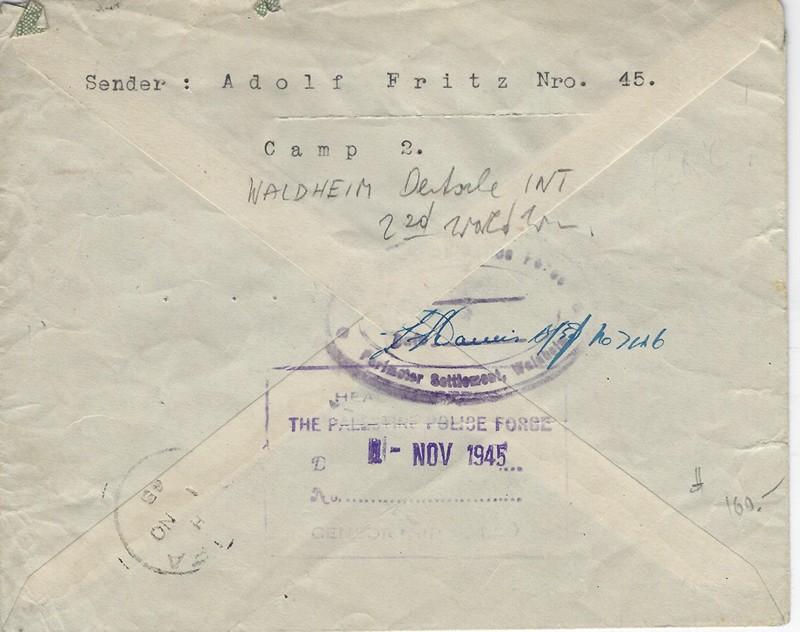 Lot 151 - world war two other -  Negev Holyland 92nd Holyland Postal Bid Sale