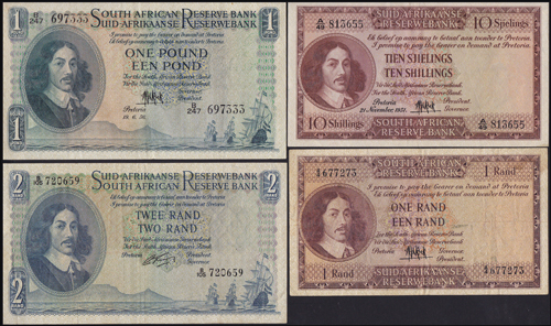 Lot 769 - World Banknotes south africa -  Romano House of Stamp sales ltd Auction #39: Worldwide Stamps, Postal History, Worldwide Coins & Worldwide Banknotes