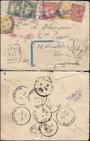 Lot 77 - british mandate in palestine british mandate postal history -  Romano House of Stamp sales ltd Auction #36: Worldwide Stamps, Postal History, Worldwide Coins & Worldwide Banknotes