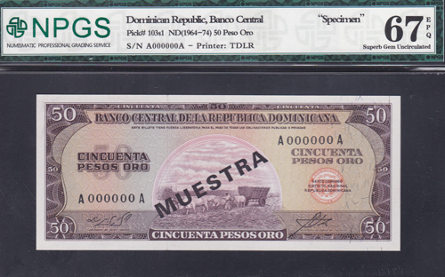 Lot 195 - World Banknotes dominican republic -  Romano House of Stamp sales ltd Auction #40