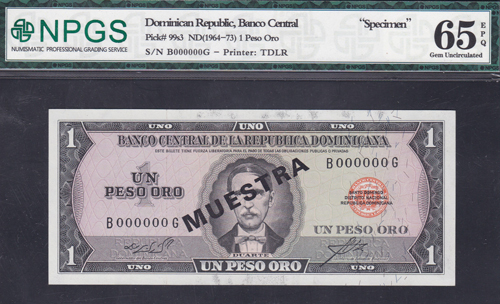 Lot 196 - World Banknotes dominican republic -  Romano House of Stamp sales ltd Auction #40