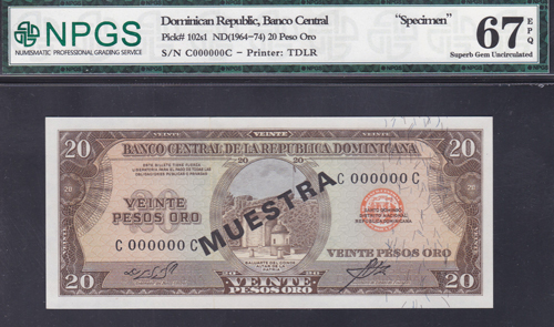 Lot 193 - World Banknotes dominican republic -  Romano House of Stamp sales ltd Auction #40