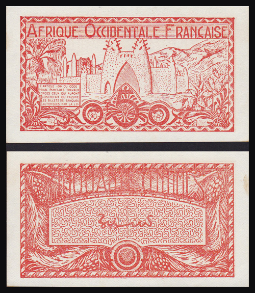 Lot 233 - World Banknotes french west africa -  Romano House of Stamp sales ltd Auction #40