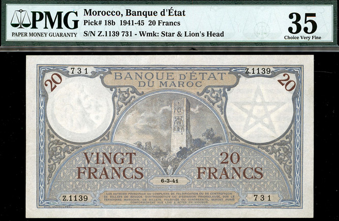 Lot 294 - World Banknotes Morocco -  Romano House of Stamp sales ltd Auction #40