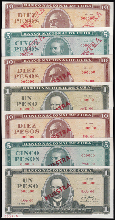 Lot 185 - World Banknotes Cuba -  Romano House of Stamp sales ltd Auction #40