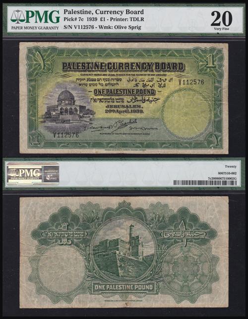 Lot 67 - Banknotes Palestine & Israel british mandate in palestine banknotes -  Romano House of Stamp sales ltd Auction #40
