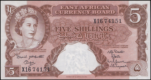 Lot 1022 - World Banknotes east africa -  Romano House of Stamp sales ltd Auction #38: Worldwide Stamps, Postal History, Worldwide Coins & Worldwide Banknotes