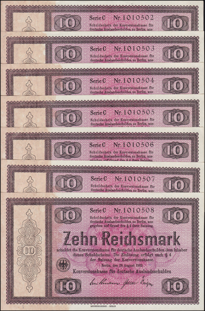 Lot 1025 - World Banknotes germany -  Romano House of Stamp sales ltd Auction #38: Worldwide Stamps, Postal History, Worldwide Coins & Worldwide Banknotes