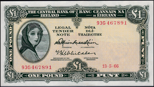 Lot 1029 - World Banknotes ireland -  Romano House of Stamp sales ltd Auction #38: Worldwide Stamps, Postal History, Worldwide Coins & Worldwide Banknotes