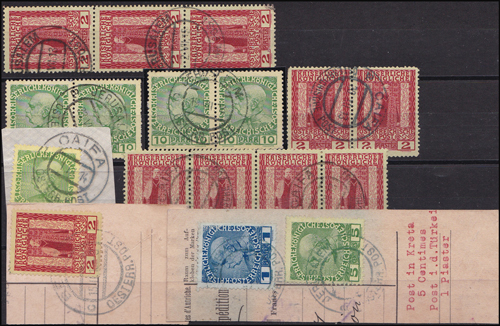 Lot 18 - holyland forerunners austrian post offices -  Romano House of Stamp sales ltd Auction #38: Worldwide Stamps, Postal History, Worldwide Coins & Worldwide Banknotes