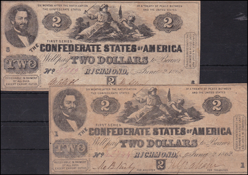 Lot 1037 - World Banknotes usa -  Romano House of Stamp sales ltd Auction #38: Worldwide Stamps, Postal History, Worldwide Coins & Worldwide Banknotes