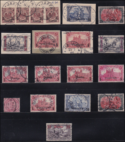 Lot 5 - holyland forerunners german post offices -  Romano House of Stamp sales ltd Auction #39: Worldwide Stamps, Postal History, Worldwide Coins & Worldwide Banknotes