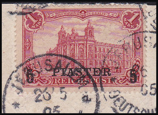 Lot 34 - holyland forerunners german post offices -  Romano House of Stamp sales ltd Auction #38: Worldwide Stamps, Postal History, Worldwide Coins & Worldwide Banknotes