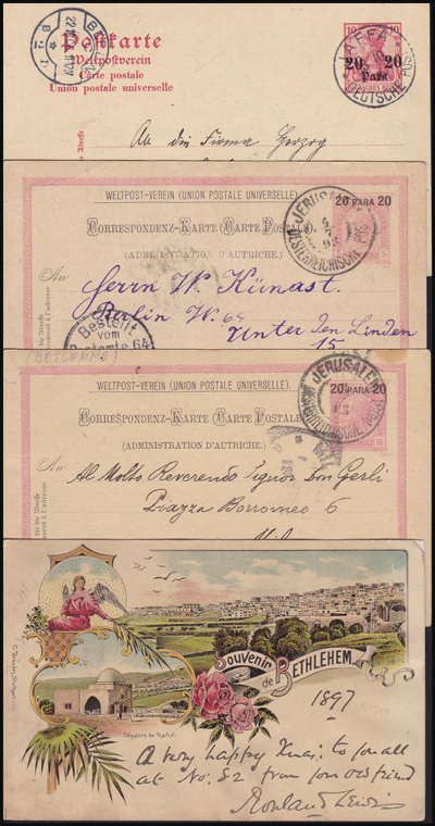 Lot 3 - holyland forerunners german post offices -  Romano House of Stamp sales ltd Auction #39: Worldwide Stamps, Postal History, Worldwide Coins & Worldwide Banknotes