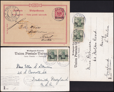 Lot 4 - holyland forerunners german post offices -  Romano House of Stamp sales ltd Auction #39: Worldwide Stamps, Postal History, Worldwide Coins & Worldwide Banknotes